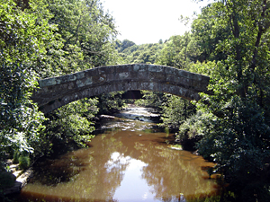 Photo of Beggars Bridge in Glaisdale near Whitby North Yorkshire