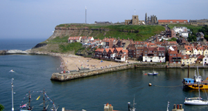 View of Whitby Harbour and Abbey