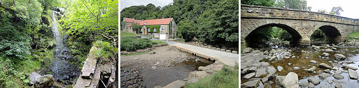 Goathland area attractions - Mallyan Spout - Darsholm - Beck Hole