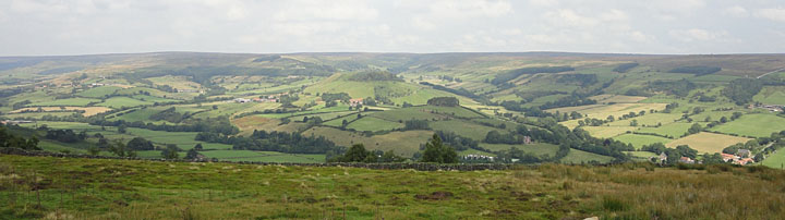 Panoramic photo of Rosedale valley