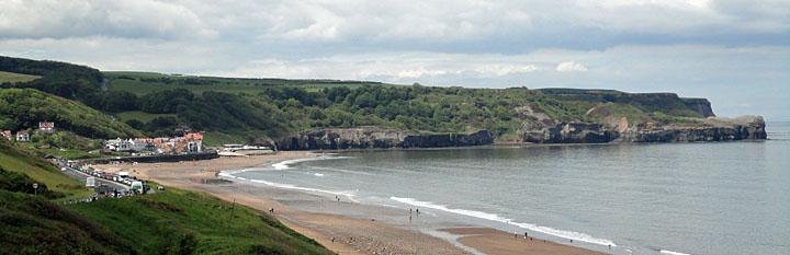 Panoramic view of Sandsend near Whitby North Yorkshire