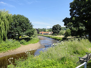 Photo of riverside at Sinnington village near Pickering in North Yorkshire
