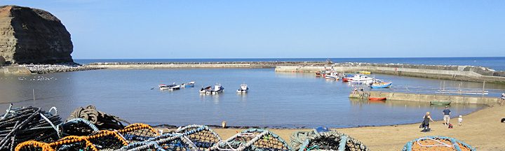 Photo of the traditional fishing village of Staithes in North Yorkshire
