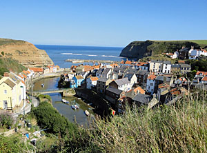 Photo of Staithes village near Whitby North Yorkshire