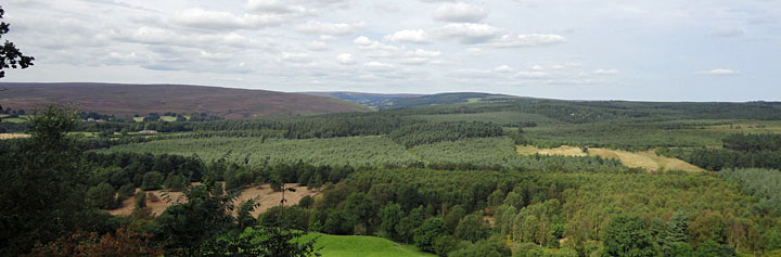Photo of Suprise View at Cropton North Yorkshire - View towards North York Moors Cropton Forest and Rosedale