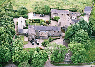 Aerial view of Brimham Rocks Cottages - Self Catering Accommodation near Harrogate North Yorkshire