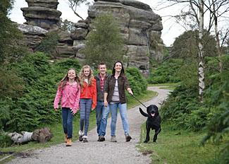 Enjoy a walk at Brimham Rocks -  near Self Catering Accommodation at Brimham Rocks Cottages
