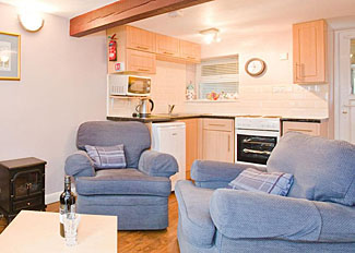 Living area in Willow Cottage ( Ref LP1153 ) at Brimham Rocks Holiday Cottages near Harrogate North Yorks