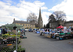 Photo of market day in Masham North Yorkshire - Markets on Wednesday and Saturday