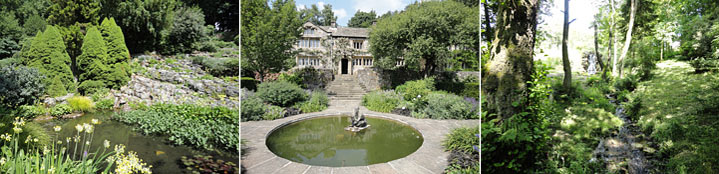 Parcevall Hall Gardens near Skyreholme in Wharfedale North Yorkshire