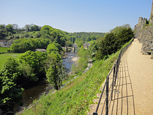 River Swale view from Richmond Castle North Yorkshire