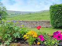 Garden with views at Craven Garth Cottages - Holiday homes near Rosedale Abbey North York Moors