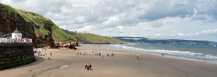 View of Whitby Beach & West Cliff