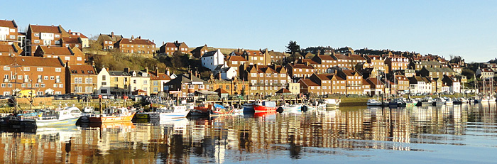 Photo of Reflections in Whitby harbour