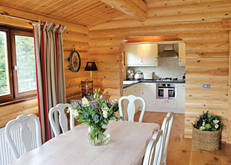 Dining area at Roseberry Lodge ( Ref LP7232 ) Blackwell Lodges near Stokesley - Self catering holiday lodges in Cleveland