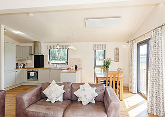 Living area in Swinton Lodge - Cedar Retreats Lodges West Tanfield North Yorkshire