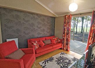 Sitting room at Washburn Lodge - Fewston Lodges near Harrogate North Yorkshire