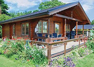Typical Oak Lodge at Home Farm Stillingfleet Holiday Lodges near York