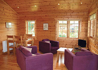 Living area in typical Willow Lodge ( Ref LP6565 ) Stillingfleet holiday lodges near York