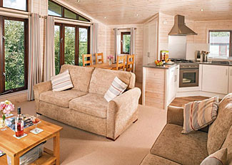 Living area in Lindale Pine Lodge - Holiday Park near Bedale North Yorkshire