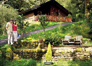 Holiday park setting at Spring Wood Lodges near Harrogate North Yorkshire