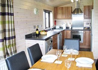 Kitchen/dining area at Chestnut Lodge ( Ref LP5421 ) Wighill holiday lodges York