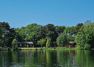 Lodge setting at York Lakeside Lodges - Self Catering Accommodation in York