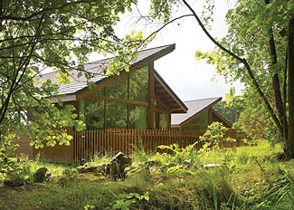 Park setting at Cropton Lodges - Holiday Lodge Accommodation near Pickering North Yorkshire