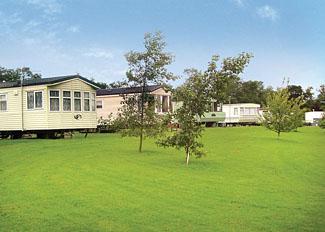 Caravan setting at York House Holiday Park near Thirsk North Yorkshire