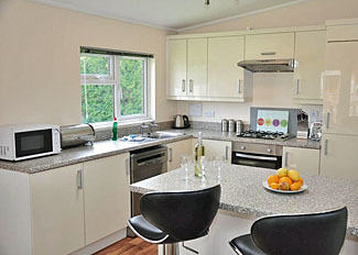 Kitchen in York Luxury Lodge ( Ref LP4567 ) Self Catering Accommodation at York House near Thirsk