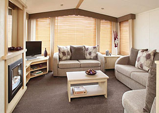 Living area in Allerton Caravan ( Ref LP4510 ) at Allerton Holiday Park in North Yorkshire