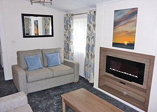 Living area in Allerton Lodge ( Ref LP4511 ) at Allerton Holiday Park North Yorkshire