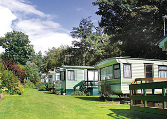 Caravan setting at Allerton Holiday Park Knaresborough North Yorkshire