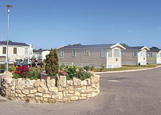 Setting of holiday caravans at Flamingo Land Resort - Holiday Park near Malton North Yorkshire