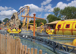 Thrilling rides at Flamingo Land Holiday Park near Malton North Yorkshire