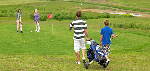 Golf course with panoramic views at Reighton Sands Holiday Park North Yorkshire coast