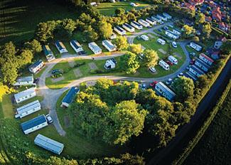 Aerial view of caravan park near Slingsby North Yorkshire - Robin Hood Holiday Park