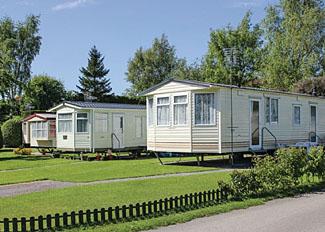 Setting of caravans at Robin Hood Caravan Park at Slingsby near York - Self Catering Accommodation