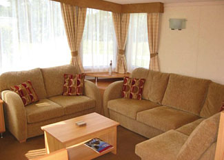 Typical caravan interior at Weir Country Park Stamford Bridge