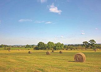 Countryside setting near Bowland Fell Caravan Park near Skipton North Yorkshire