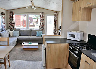 Typical Lifestyle Silver Caravan ( Ref LP8998 ) at Bowland Fell Caravan Park in Tosside North Yorkshire