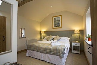 Photo of bedroom in Gales Lodge at Gales House Farm - Gillamoor Holiday Cottages near Kirkbymoorside