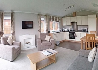 Living area in Deer Lodge ( Ref LP9299 ) at Badgers Retreat Lodges near Richmond North Yorkshire