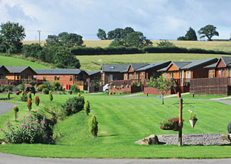 Setting at Badgers Retreat Holiday Park near Richmond North Yorkshire