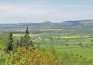 View of Roseberry Topping from Carlton Bank - near Stokesley