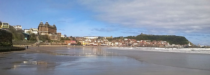 Photo of Scarborough South Bay and Scarborough Castle in the distance