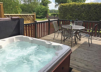 Typical outdoor hot tub at Hollybrook Holiday Lodges near York North Yorkshire