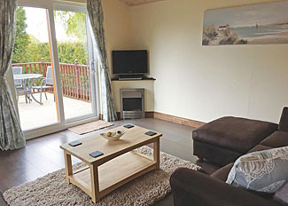 Living area of Pine Lodge ( Ref LP2899 ) at Hollybrook Lodges near York