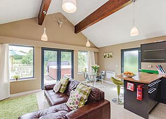 Living area of Acorn Lodge ( Ref LP3906 ) Oakwood holiday lodges North Duffield