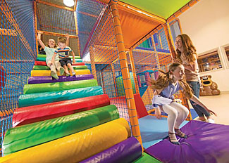 Childrens soft play area at Cayton Bay Holiday Park Scarborough North Yorkshire